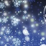 sneeuw nieuwjaar klok