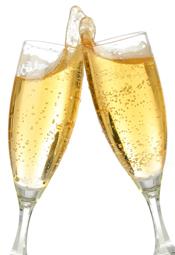 nieuwjaarsborrel collega champagne